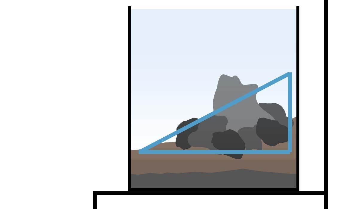 Aquarium Seitenansicht als Beispiel f?r eine nach hinten ansteigende ...